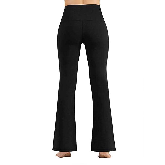 Mujer Pantalones Anchos de Pierna Pantalones de Yoga ...
