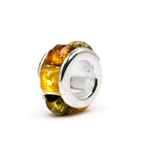 Baltic Amber Silver Charm - 2