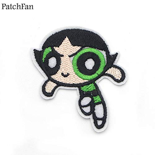 Powerpuff Girls Diy (Sewing Patches |5Pcs/Set The Powerpuff Girls Patch Embroidered DIY Iron/Sew On Cloth Accessories Newest Popular Patches Appliques A0201 | by)