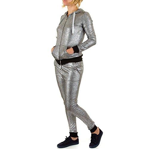 iTaL-dESiGn - Pantalón de peto - para mujer gris