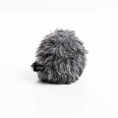 Movo WS-G5 Furry Outdoor Microphone Windscreen Muff Custom Fit for Rode VideoMicro and VideoMic Me (Dark Gray) ()