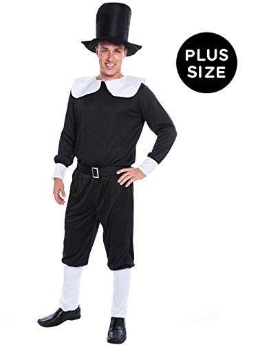 Pilgrim Man Adult Plus Costume - (Mens Pilgrim Costume)