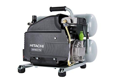 Hitachi EC99S 4-Gallon Portable Electric Twin Stack Hot Dog Air Compressor