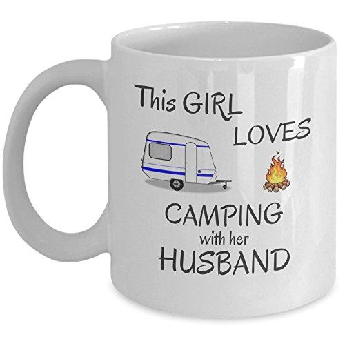 CAMPING coffee mug - This girl loves camping
