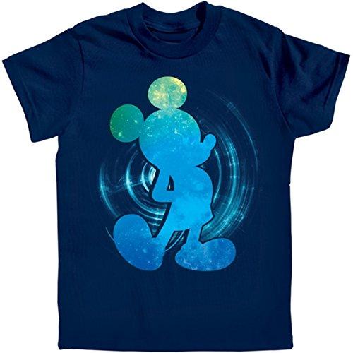 Disney Galactic Mickey Mouse Navy Blue Youth T-Shirt (Medium - 8)