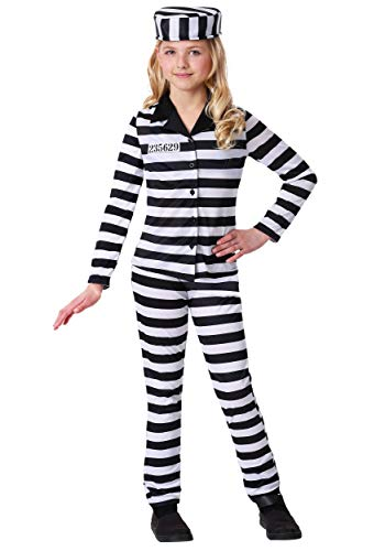 Girl's Incarcerated Cutie Costume Large -