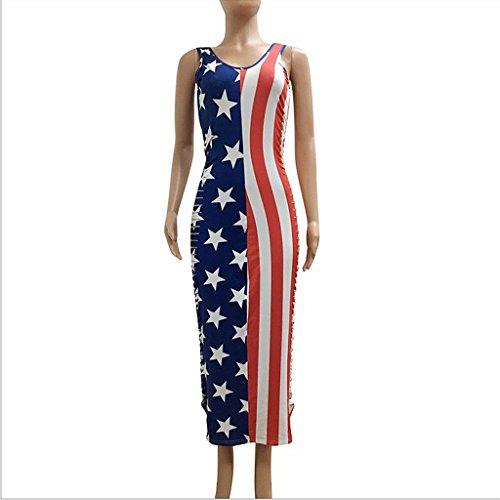 MagiDeal Sexy Frauen patriotischen amerikanischen Flagge bodycon ...