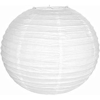 "White Chinese/Japanese Paper Lantern/Lamp 24"" Diameter - Just Artifacts Brand"