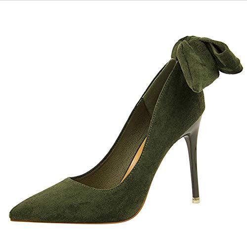 Super Knot Damen High Heel colore 37 Haiming Und Amerikanischen Europäischen Pumps Green Schuhe Mary Schmetterling Dimensioni Halbschuhe Stil Jane Pink OYUOBPw5q