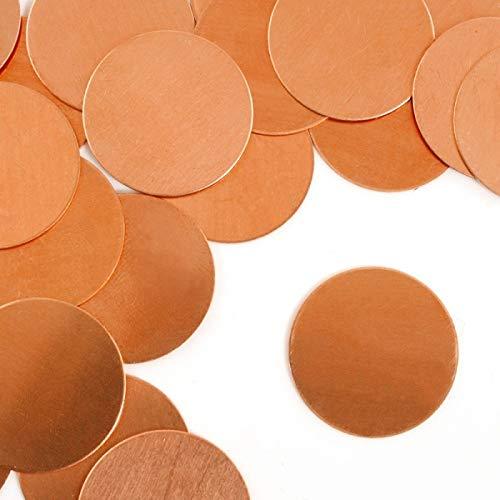 "ImpressArt Circle 7/8"" Premium Metal Stamping Blanks, 24 Pieces, (Copper)"