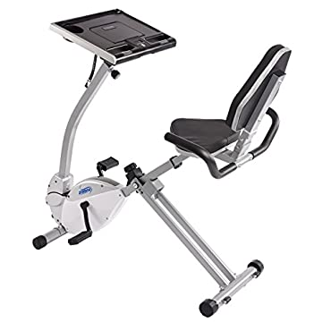 Stamina 2-in-1 Recumbent Exercise Bike Workstation and Standing Desk (15-0321)
