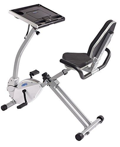 Stamina 2-in-1 Recumbent Exercise Bike Workstation & Standing Desk Stamina Products, Inc. - DROPSHIP