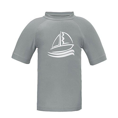 - Boys' Short Sleeve Rash Guard Swimwear Athletic Tops Surf Swim Shirt UPF 50+ Sun Protection, Gray 10