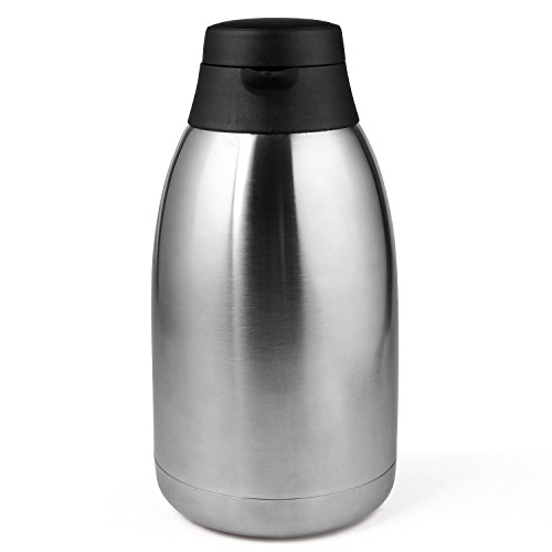 68 Oz Stainless Steel Thermal Coffee Carafe/Double Walled Vacuum Thermos / 12 Hour Heat Retention / 2 Litre by Cresimo by Cresimo (Image #4)