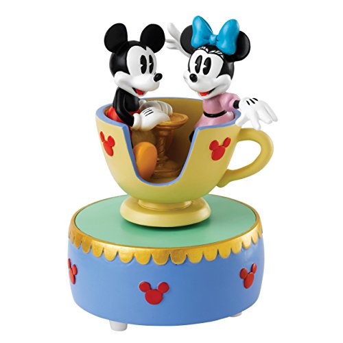 Enchanting Disney A28350 Come to the Fair Mickey & Minnie Mouse Teacup (Musical Teacup)
