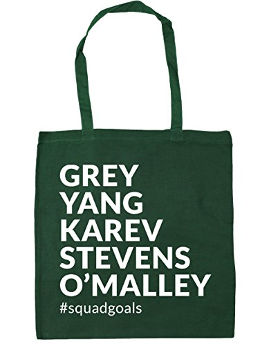 HippoWarehouse Grey Yang Karev Stevens O´Malley Squadgoals Bolso de Playa Bolsa Compra Con Asas para gimnasio 42cm x 38cm 10 litros capacidad Verde Botella