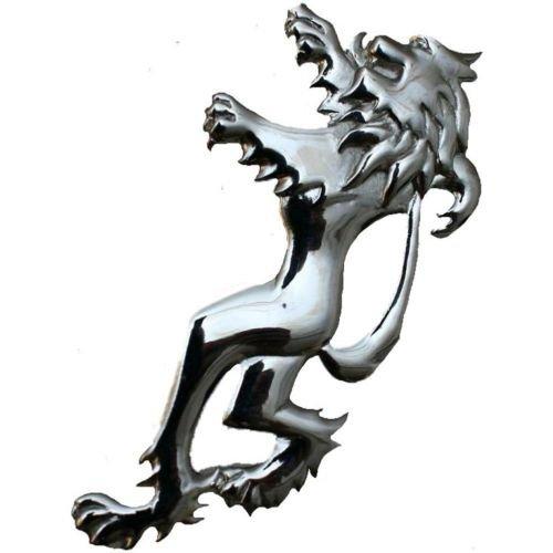 Scottish Lion Rampant Celtic Kilt Pin - Polished Chrome (Celtic Clothing Kilt Accessories)