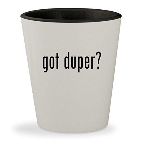 got duper? - White Outer & Black Inner Ceramic 1.5oz Shot Glass