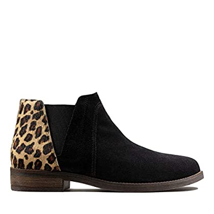 Clarks Demi Beat Leather Boots in Black