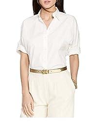LAUREN RALPH LAUREN Women's Dolman-Sleeve Cotton Shirt