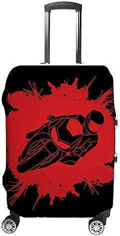 スーツケースカバー バイク 伸縮素材 キャリーバッグ お荷物カバ 保護 傷や汚れから守る ジッパー 水洗える 旅行 出張 S/M/L/XLサイズ
