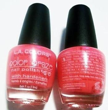 Amazon.com : L.A. Colors Color Craze Nail Polish - Electric Charge ...