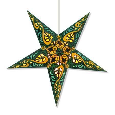 (Celtic Green Paper Star Lantern)