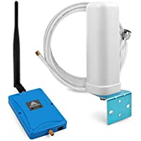 ANYCALL 2G/3G Cell Phone Signal Booster Dual Band 850/1900MHz Voice and Data Boost Band2/5 Amplifier Automatic Shut Down for Weak Bar Signal User (Whip+Omni Antenna)