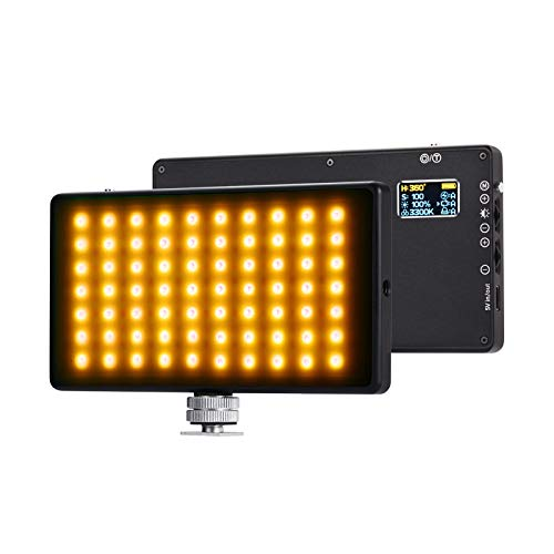 Camera RGB Light LituFoto R18 180 Pcs Lamp Beads LED Video Light 360° Full Color 9 Lighting Effect 3200-5600K Adjustable 1-100% Stepless Dimming for YouTube, Vlog, DSLR, Outdoor, Smartphone Shooting