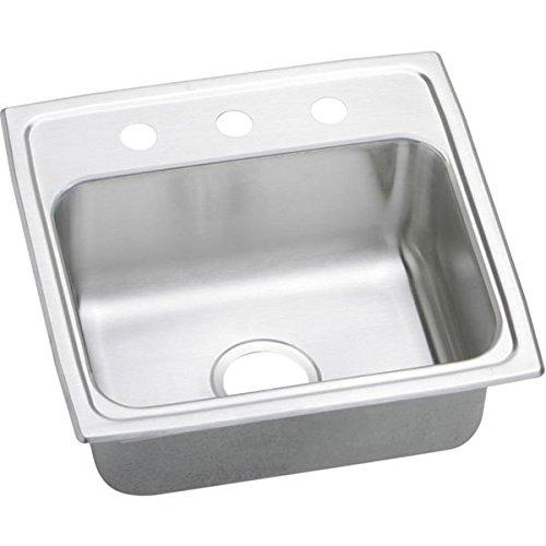 Elkay PSR19181 1-Hole Gourmet 18-Inch x 19-Inch Single Basin Drop-Inch Stainless Steel Kitchen Sink