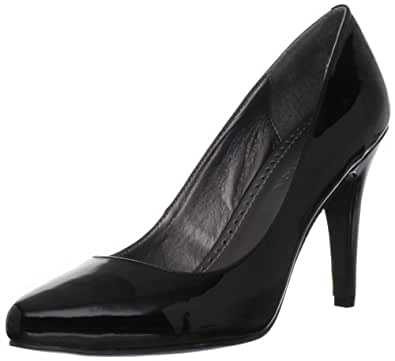 Adrienne Vittadini Women's Monique Pump, Black/Patent, 8 M US