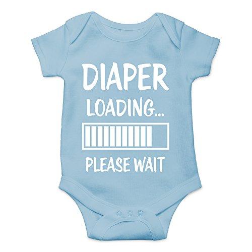 CBTWear Diaper Loading… Please Wait Newborn Dirty Diaper Humorous Babies Funny Cute Novelty Infant One-Piece Baby Bodysuit (6 Months, Light Blue)