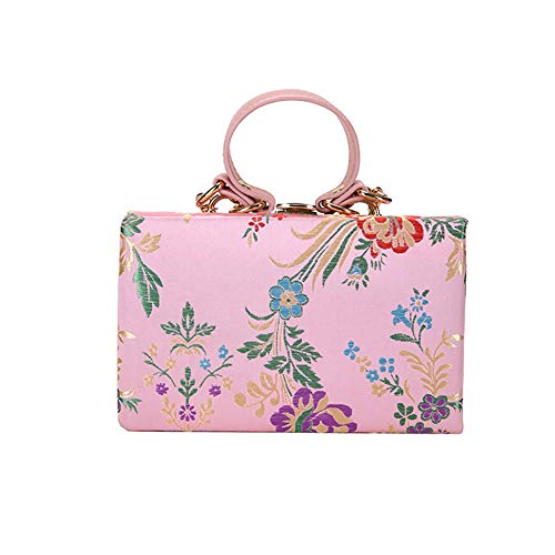 (HNZY Ethnic Style Silk Embroidered Handbags Chinese Style One-shoulder Slung Wild Bag)