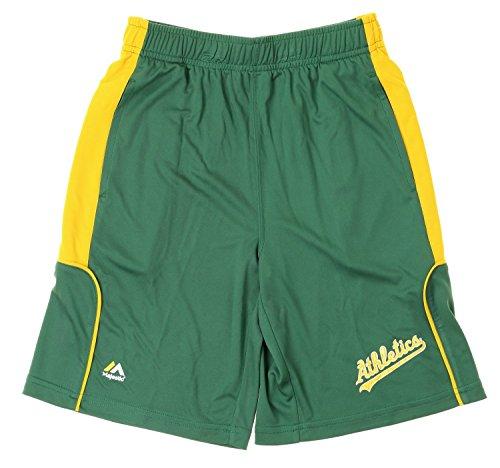 (Majestic MLB Oakland Athletics A's Big Boys Youth Batters Choice Shorts,)
