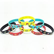 12 Count Silicone Rubber Wristbands Bracelet