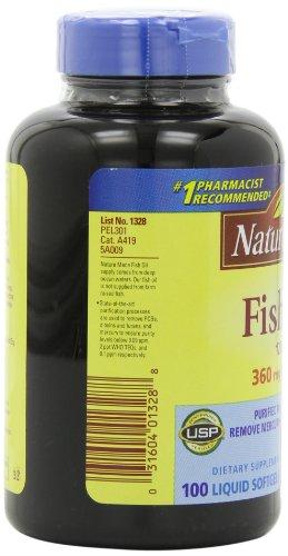 031604013288 - Nature Made Fish Oil Omega-3, 1200mg, 100 Softgels carousel main 6