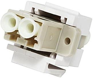Monoprice 102875 Keystone JackModular LC White