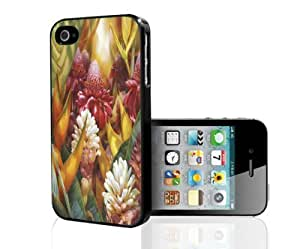 Colorful Tropical Flowers Hard Snap on Phone Case (iPhone 4/4s)