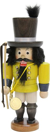 German Christmas Nutcracker Postillion - 19,0cm / 7.5inch - Christian Ulbricht by Authentic German Erzgebirge Handcraft