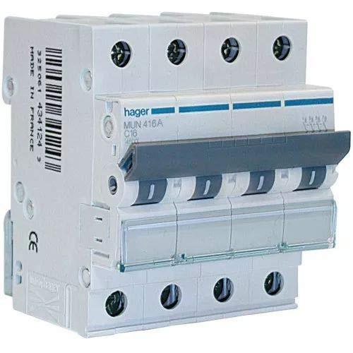 Hager MUN650A Interruptor Automático Magnetotérmico Serie MU, 3P+N ...