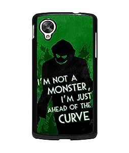 Cool DC Comics Google Nexus 5 Funda Case Joker Quotes [Perfect-Fit] Premium Hard Plastic Dust Proof Funda Case & Cover