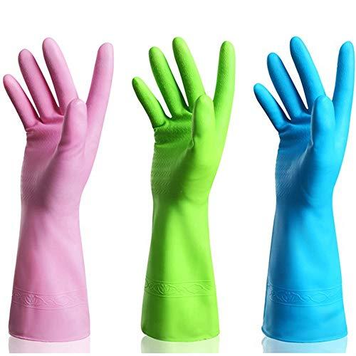 Kitchen Rubber Cleaning Gloves Dishwashing Clean Latex Glove