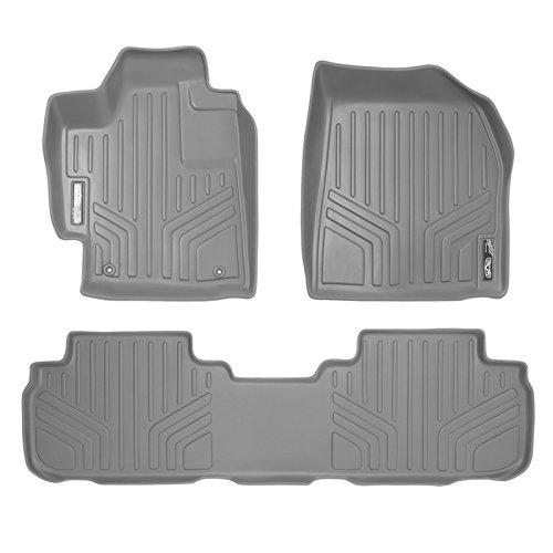 MAXFLOORMAT Floor Mats 2 Row Set Grey for 2008-2013 Toyota Highlander Non Hybrid (Toyota Hybrid Not Highlander)
