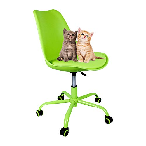 YUIKY Office Chair Rolling Adjustbable Upholstered Modern Home Desk Computer Chairs for Kids Adults Green