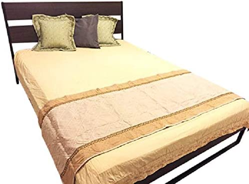 OctoRose Quilted Beige V2 26×96 Quilted Micro Suede Pets Bed Pad Protector Runner for King and Cal King Bed