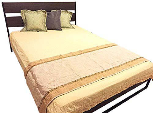 OctoRose  Quilted Micro Suede Bed Runner Scarf Protector Slipcover Pad for Pets V2 (26x76, Khaki) by OctoRose