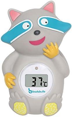 Badabulle B037002 - Termómetro de baño mapache
