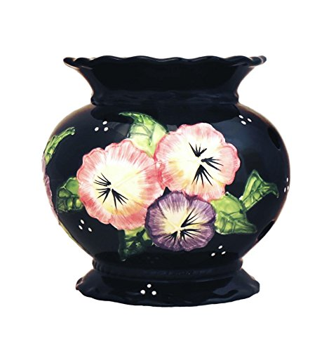 Tuscan Black Floral Garden Collection Electric Tart Burner 82365 By ACK (Tuscan Garden Collection)
