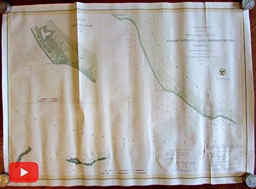 California coast Santa Barbara 1857 nautical chart Laguna Anacapa -