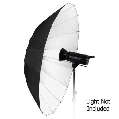 Fotodiox Pro 60in Black and White Reflective Parabolic 16-Rib Umbrella by Fotodiox